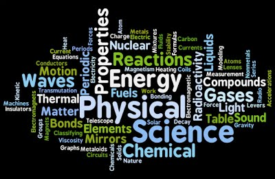 Physical Science word cloud